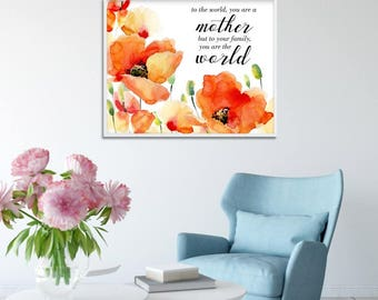 Be so good they cant ignore you steve martin typography to the world you are a mother print mothers day last minute gift print digital download mightylinksfo Images