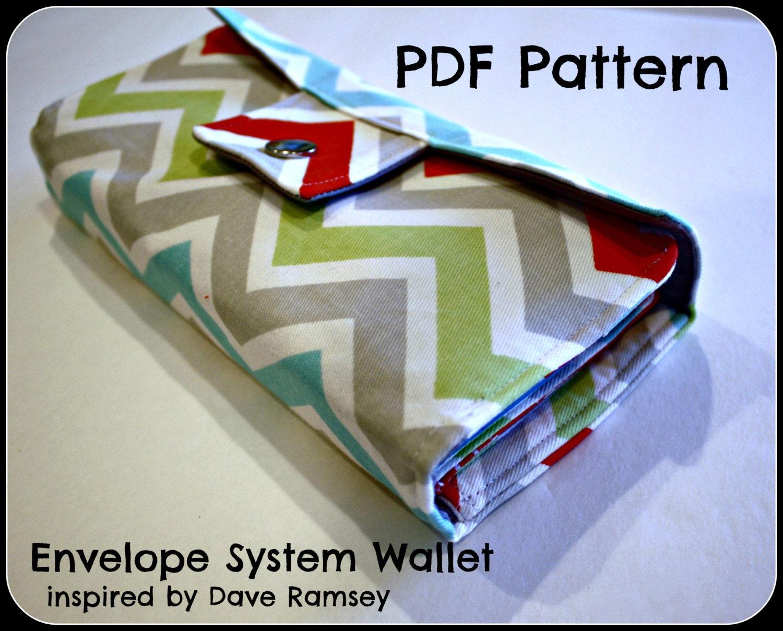 pdf pattern dave ramsey inspired envelope system wallet