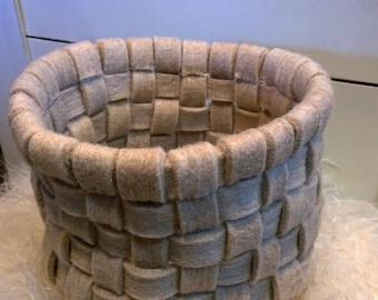 Felted wool basket