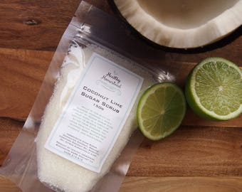 Coconut Lime Sugar Scrub - 150g - 100% pure certified essential oils