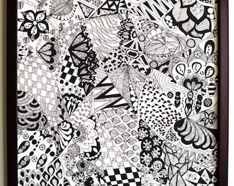 Doodle In Black and White