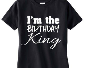 I'm The Birthday King Shirt, Boy's Birthday Shirt, Birthday Boy Shirt, Birthday King, Birthday Party, Birthday Outfit
