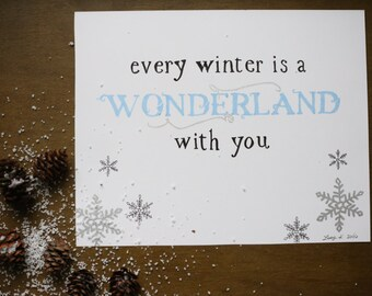 "Every Winter Is A Wonderland With You Original Art 5""x7"""