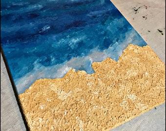 Ocean meets sand
