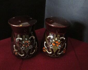 Vintage Ornate SALT & PEPPER Shakers -Japan