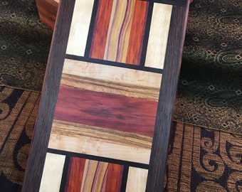 Friction Top Box: English Walnut with Mosaic Top