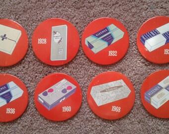 Vintage Kleenex Tissue Button Pins