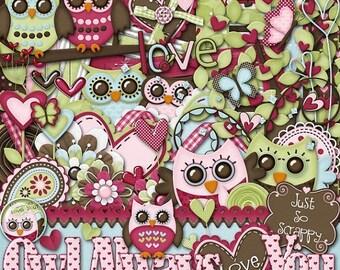 On Sale 50% Owl Always Love You Digital Scrapbook Kit - Digital Scrapbooking