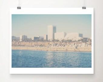Santa Monica photograph beach photograph pacific ocean photograph California photograph beach print pacific ocean print