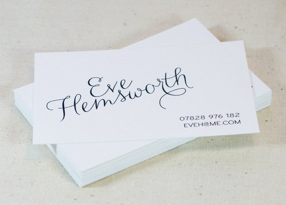 Calligraphy business card modern business card classic
