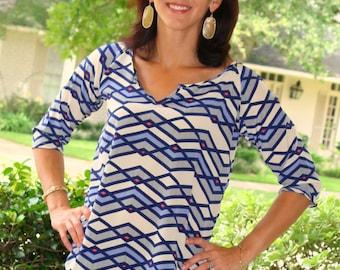 Womens Raglan shirt and tunic pdf sewing pattern, womens raglan shirt long sleeve pdf sewing pattern by seamingly smitten