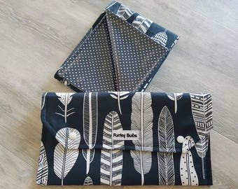 Nappy Wallet & Change Mat Set. Gorgeous Baby Shower Gift. Waterproof Mat. Nappy Clutch.