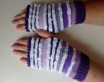 Beautiful fingerless gloves made knit