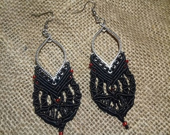 Micromacrame earrings