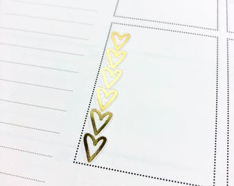Heart Checklists FOIL | Clear Matte Glossy Planner Stickers