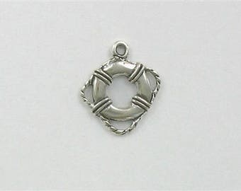 Sterling Silver 3-D Life Preserver Charm