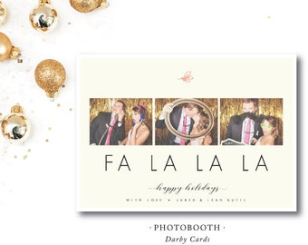 Photobooth Printed Holiday Cards | Christmas or Holiday Photocard | Printed or Printable by DarbyCards