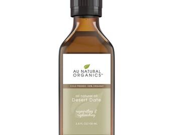 Desert Date Oil Organic - Natural Skin Care, Natural Hair Care, Natural Nail Care, Anti-Aging, Anti-Wrinkle 3.4 oz (100 ml)