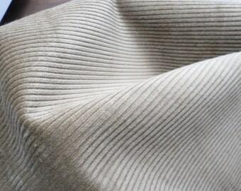 Vintage Retro Unused Corduroy Fabric Beigey-Brown.