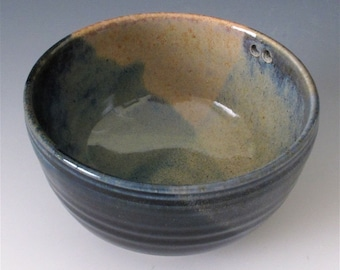 Small Rice Bowl. Woodsy Earth Tones.  SALE