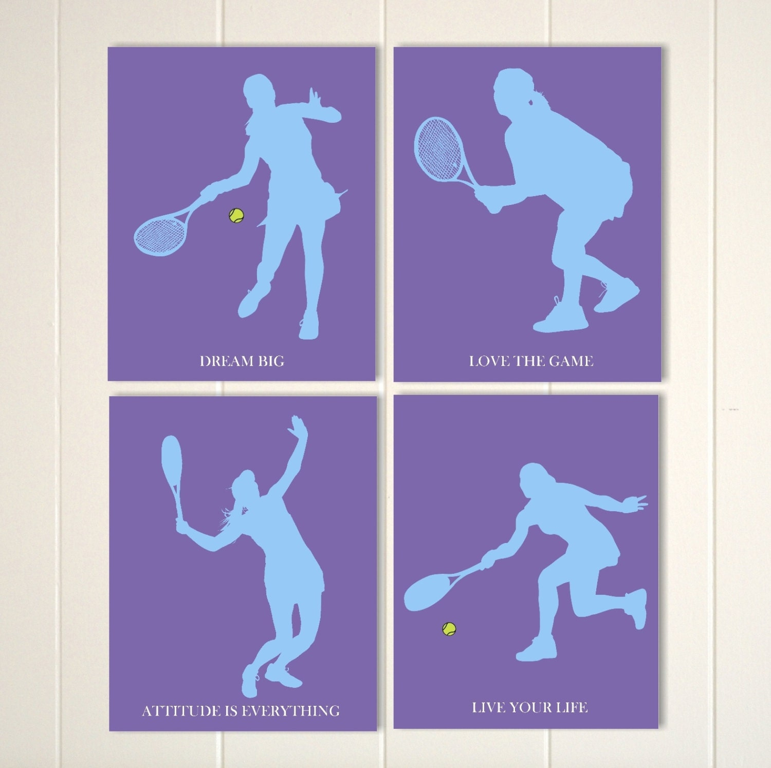 Tennis girl wall art tennis room decor teen girl wall art
