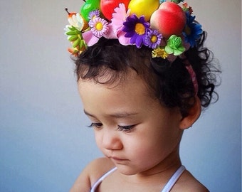 Fruity Bright Headpieces Purple Daisy