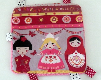 Plush Russian doll cotton and velvet