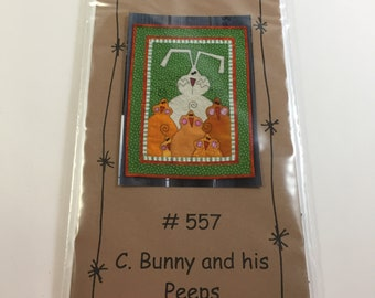 C. Bunny and his Peeps Pattern - Bloomin' Minds - Half to Have - Bunny Pattern - Peeps - Chicks - Easter Runner - Easter Decor