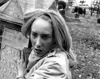 "Print 8x10"" - Barbara - Night Of The Living Dead George Romero Zombie Dark Art Horror Pop Halloween Lowbrow Graveyard Gothic Spooky Dead"