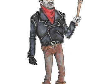 Negan from The Walking Dead (My Favorite Monsters)