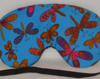 Handmade Blue Butterflies Sleep Eye Mask Blindfold Hen Stag Blackout Migraine Relief