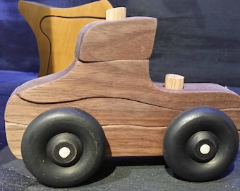Wooden Push Puzzle Pick Up Truck