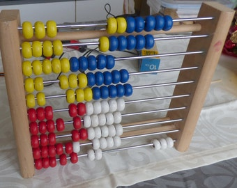 vintage wooden and metal abacus