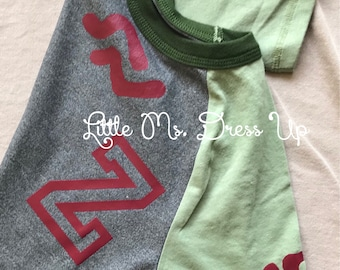 Zombies shirt / green zed shirt / Zed Tee Shirt/ Zed Costume