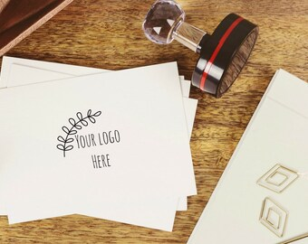 Personalised business stamp - Self inking custom stamp- Self inking business stamp - Custom logo stamp - custom rubber stamps