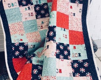 Crib quilt, Baby quilt, Doll Quilt