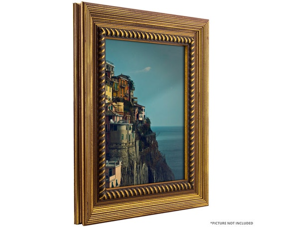 Craig Frames 22x28 Inch Rustic Antique Gold Picture Frame