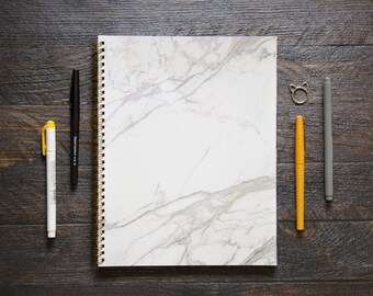 Large Workout Log (170 Pages)   12 Months   No Meal Planner/Log Pages   Marble Cover