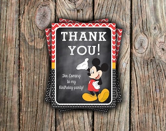 Mickey Mouse Thank You Card - Instant Download