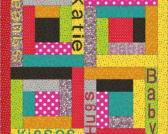 Baby Talk Quilt Pattern-PDF by MadCreekDesigns