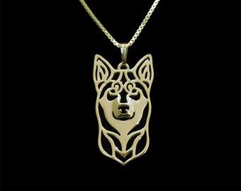 Lapponian Herder (Lapinporokoira) - Gold pendant and necklace