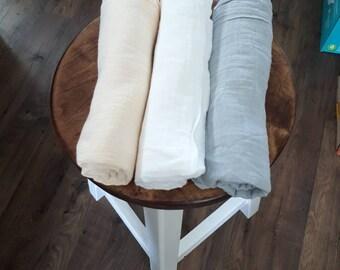 Cotton swaddle blanket muslin double gauze