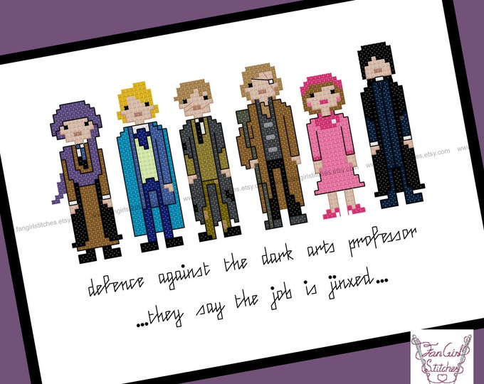 Defence Against the Dark Arts. Harry Potter themed Cross Stitch - PDF pattern - INSTANT DOWNLOAD
