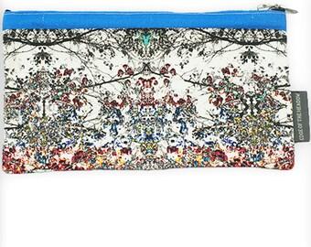 Vintage Style Blue Make up Bag /Pencil Case