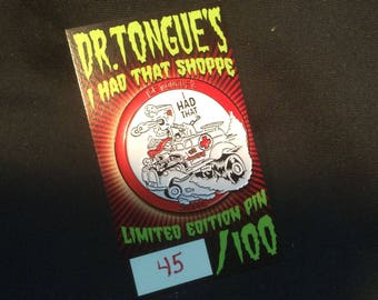 Dr. Tongues Ambulance Limited Editon of 100 pcs. Enamel Pin
