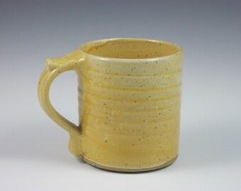 Glossy Orange Thumbrest Mug