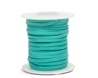 Turquoise Deerskin Lacing - (1) 50 foot spool, 1/8th inch lace.  Deerskin lace. (297-18x50TQ) P10