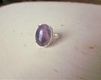 Amethyst Ring Purple Ring Amethyst Gemstone Ring Purple Stone Ring Purple Gemstone Ring Amethyst Stone Ring Oval Amethyst Ring