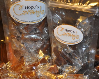 Sea Salt Caramels, homemade. (by the 1/2 pound)