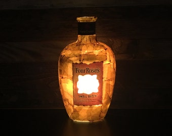 Four Roses Bourbon Bottle Lamp